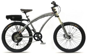 Prodeco V3 Outlaw EX 8 Speed Electric Bicycle, Charcoal Graphite Metallic, 26-Inch/One Size